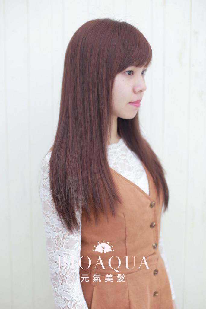 粉紅咖啡色 - 台中髮廊 染髮推薦 bioaqua元氣美髮
