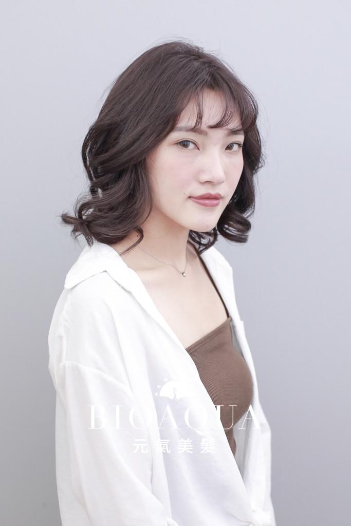 霧感深紫灰棕色 - 台中髮廊 染髮推薦 bioaqua元氣美髮