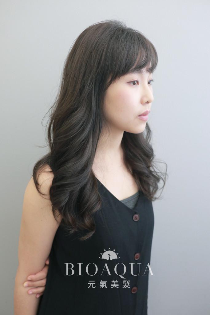 霧感深綠棕色+資生堂水質感燙 - 台中髮廊 元氣美髮