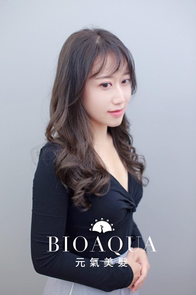 深奶茶灰色手刷漸層 - 台中髮廊 染髮推薦 元氣美髮