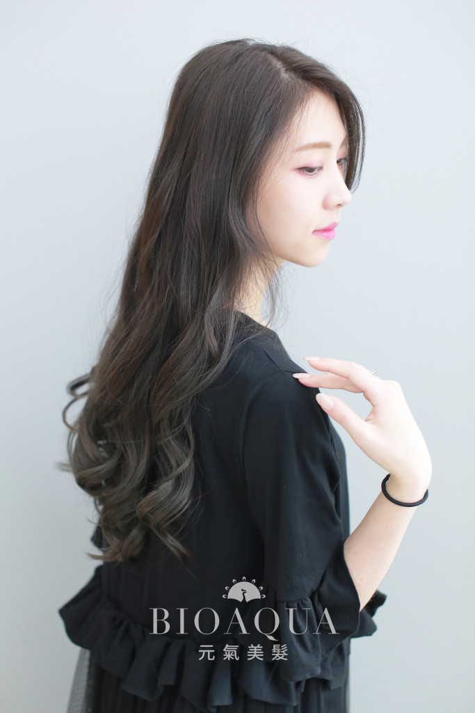 灰棕色調漸層染 - 台中髮廊 染髮推薦 bioaqua元氣美髮