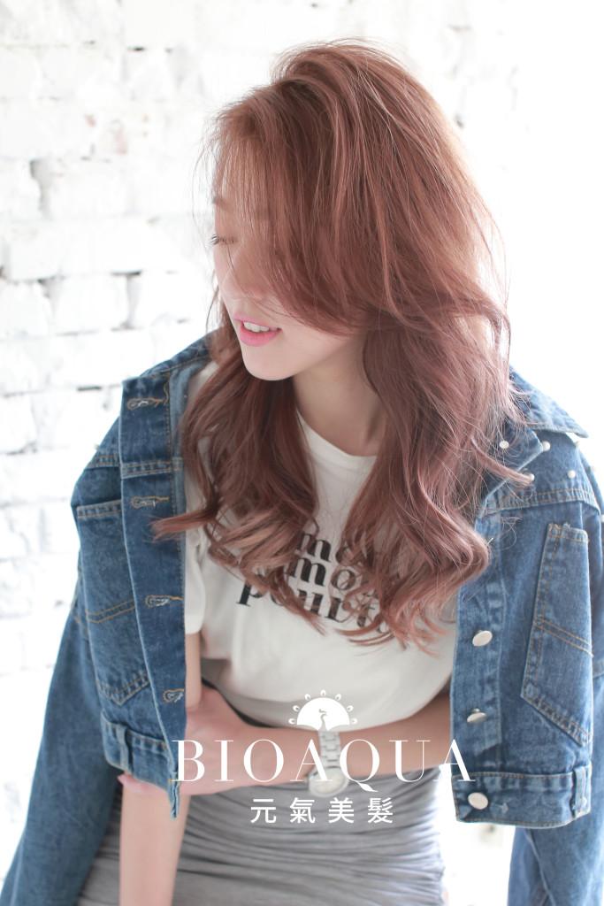 粉紫色乾燥花漸層染 - 台中髮廊 染髮推薦 元氣美髮