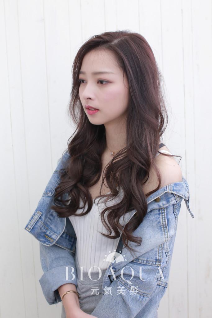 深粉紅咖啡色 - 台中髮廊 染髮推薦 bioaqua元氣美髮