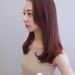韓風髮根燙+顯白紫紅色調挑染