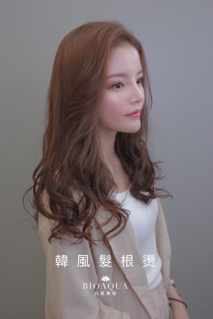 韓風髮根燙+可可棕色 - 台中髮廊 燙髮推薦 元氣美髮