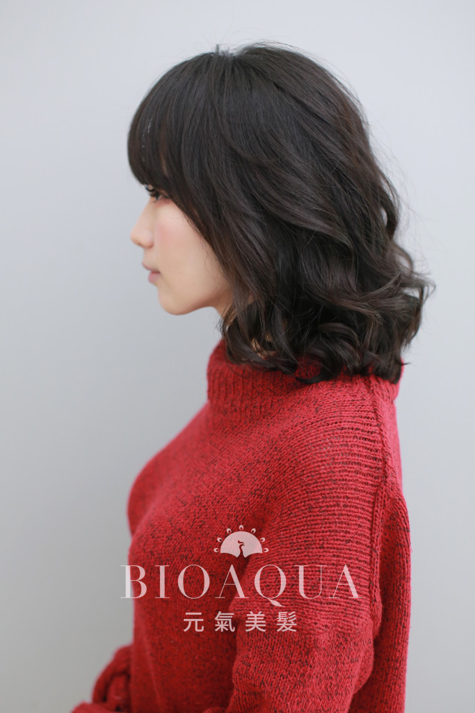 及肩蓬鬆捲 - 台中西區髮廊 燙髮推薦 bioaqua元氣美髮