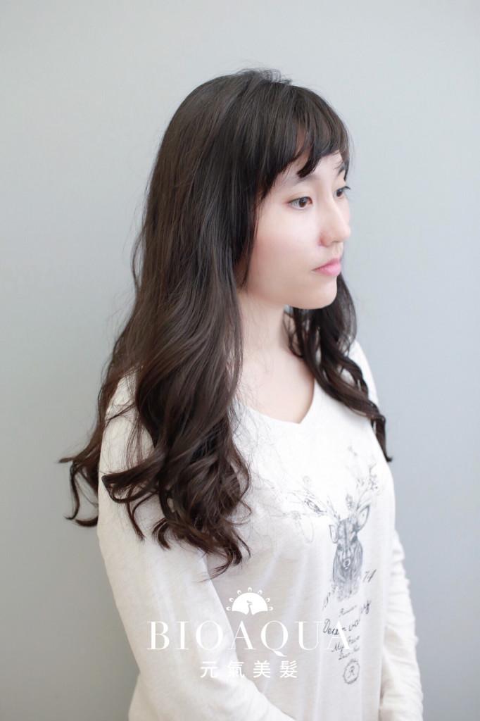豐厚感大波浪捲髮 資生堂水質感 - 台中髮廊 燙髮推薦 元氣美髮