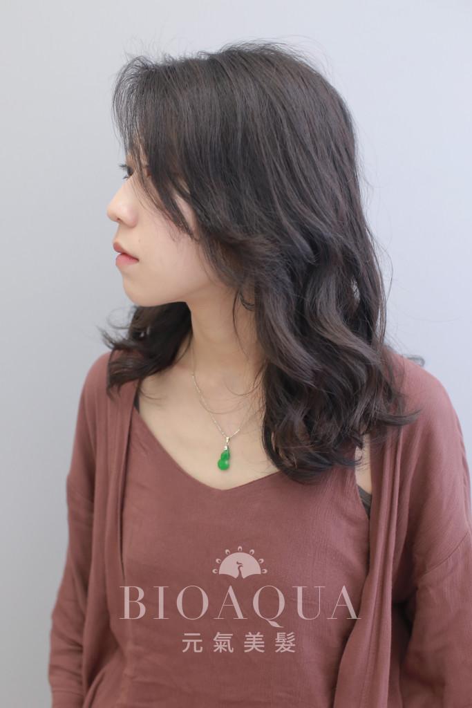 大旁分隨性捲髮 水潤Q彈捲 - 台中髮廊 燙髮推薦 元氣美髮