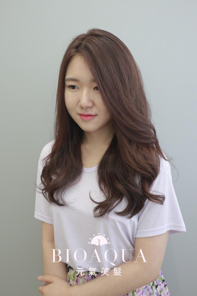 優雅氣質 韓國女孩髮尾大捲 - 台中髮廊 燙髮推薦  bioaqua元氣美髮