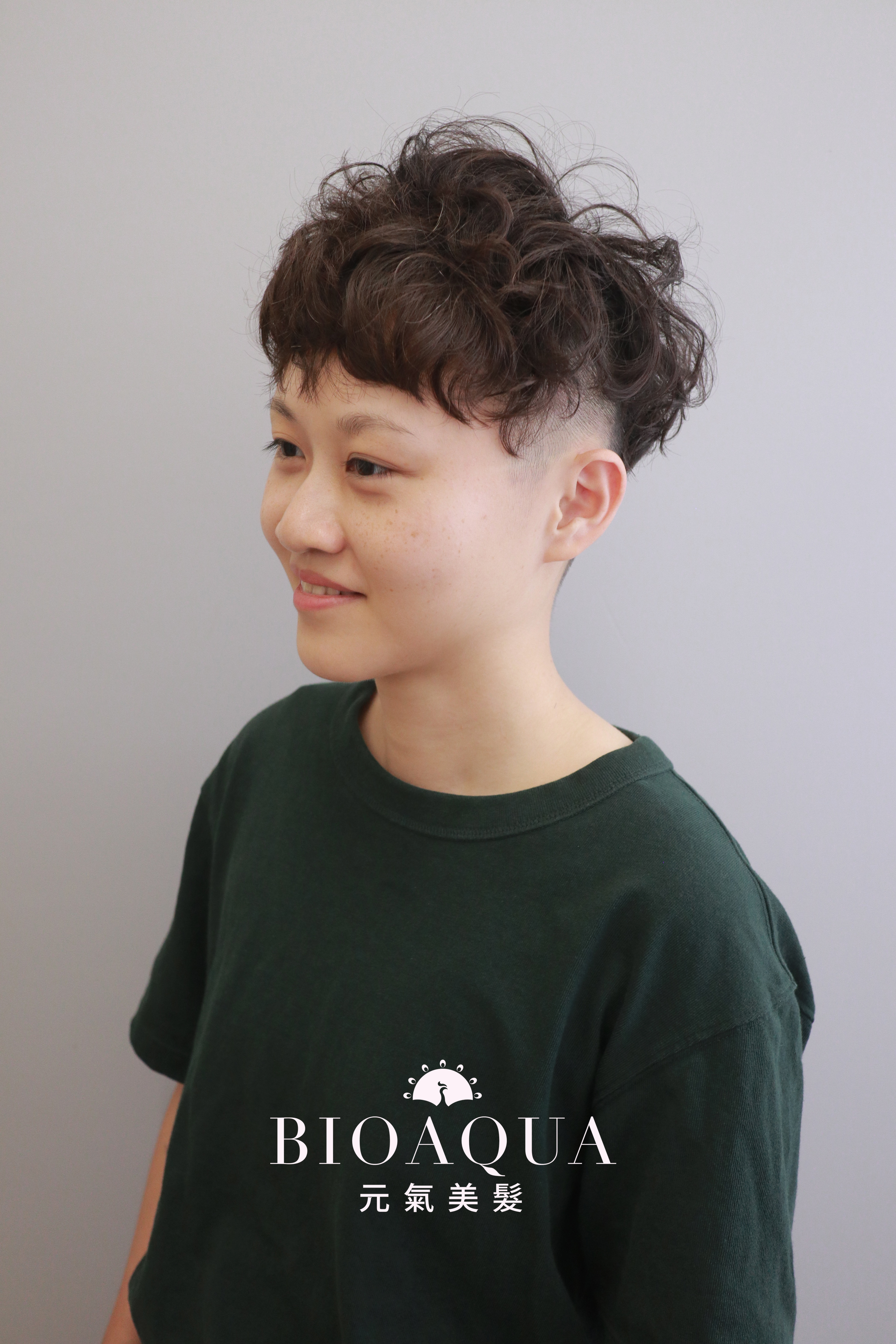 中性風格個性短捲髮