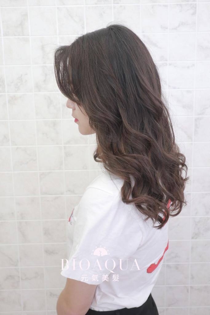 手繞波浪捲 資生堂水質感燙 - 台中髮廊 剪髮燙髮推薦 元氣美髮
