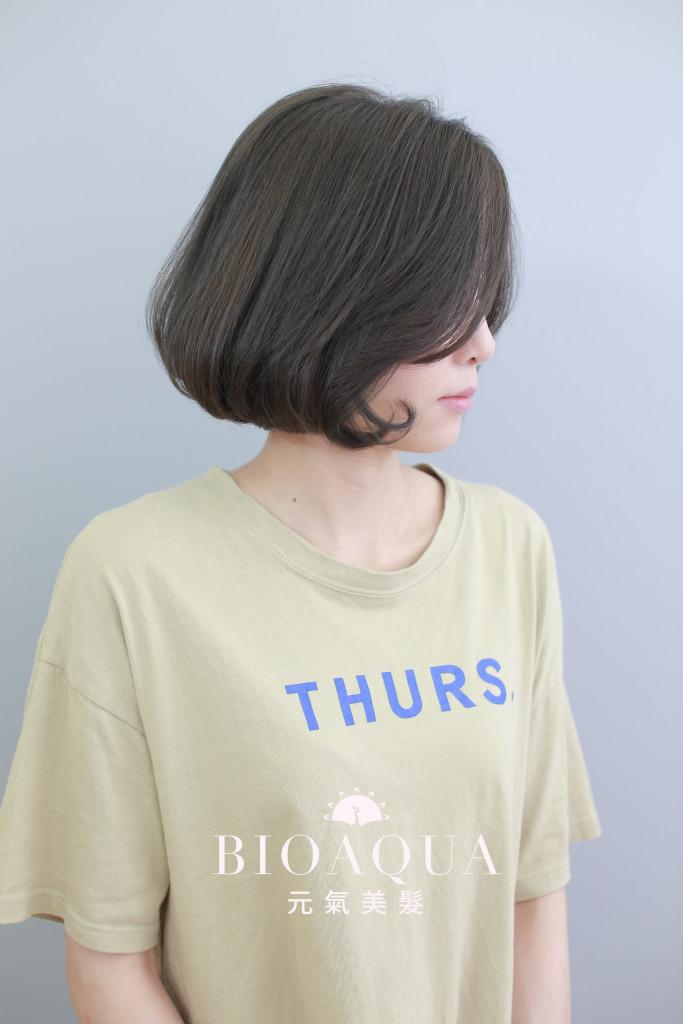 C彎BOB頭+霧感深灰棕色 - 台中髮廊 染髮推薦 元氣美髮