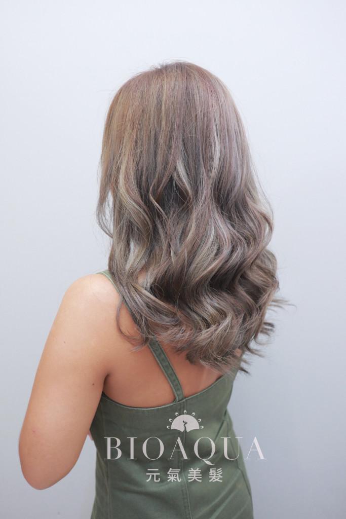 歐美風灰色調線條挑染 - 台中髮廊 剪髮染髮推薦 元氣美髮
