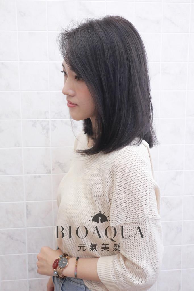 霧感深灰色 - 台中髮廊 剪髮染髮推薦 bioaqua元氣美髮