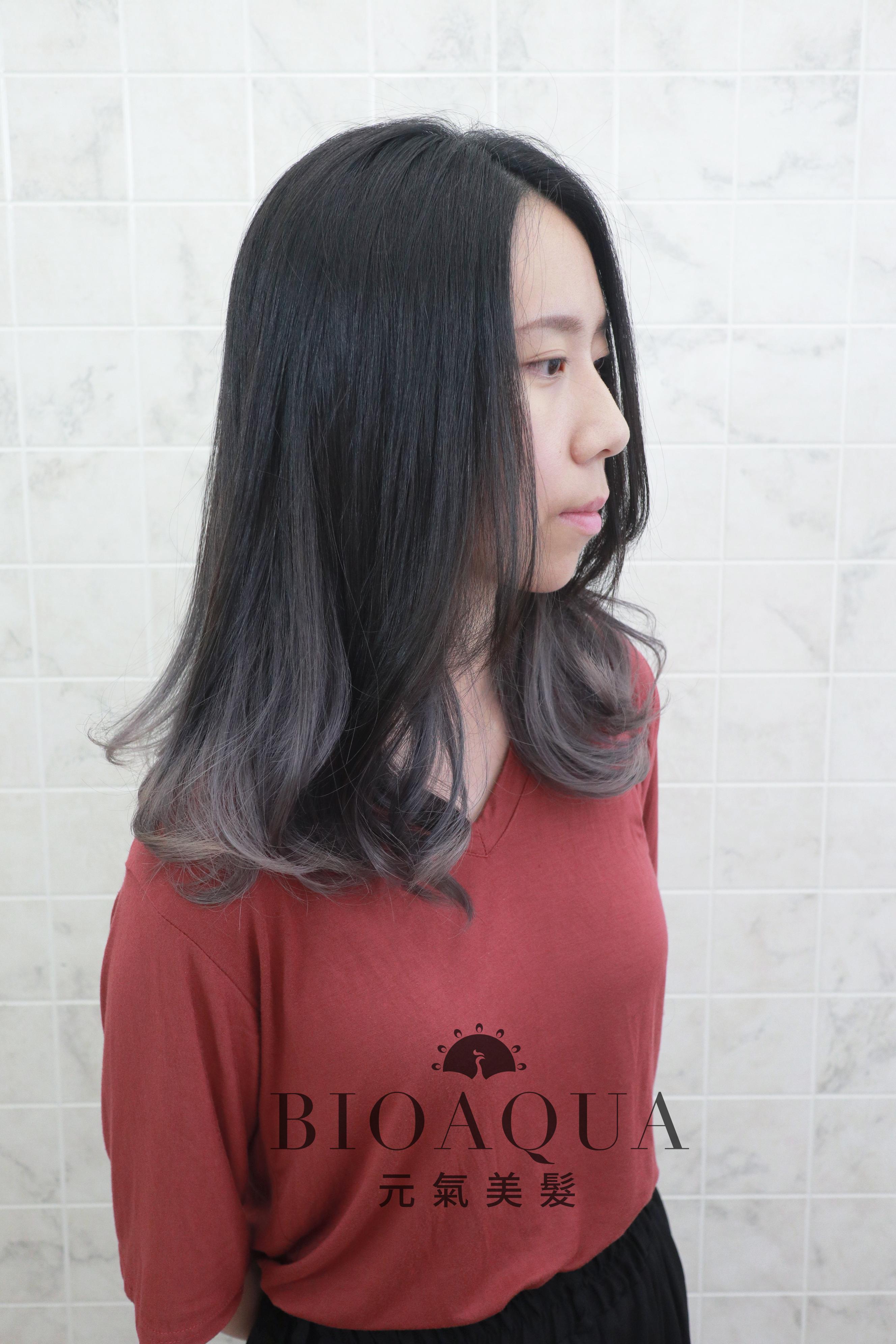 歐美風 灰色調手刷漸層染髮