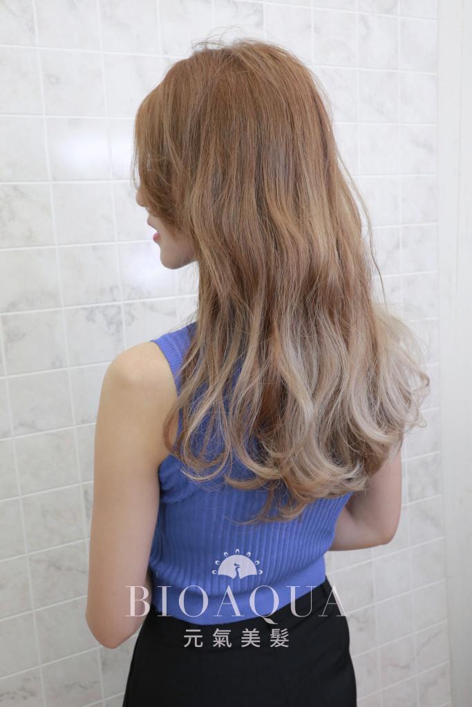 淺棕&奶油色漸層暈染 - 台中髮廊 剪髮染髮推薦 元氣美髮