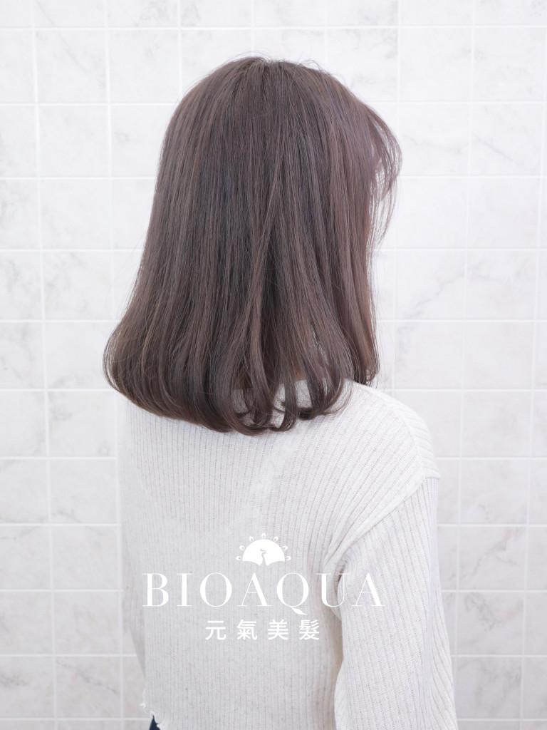 霧感髮色 奶茶灰棕色 - 台中髮廊 剪髮染髮推薦 元氣美髮