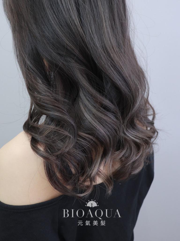 歐美線條挑染+黑茶拿鐵色 - 台中髮廊 剪髮染髮推薦 元氣美髮