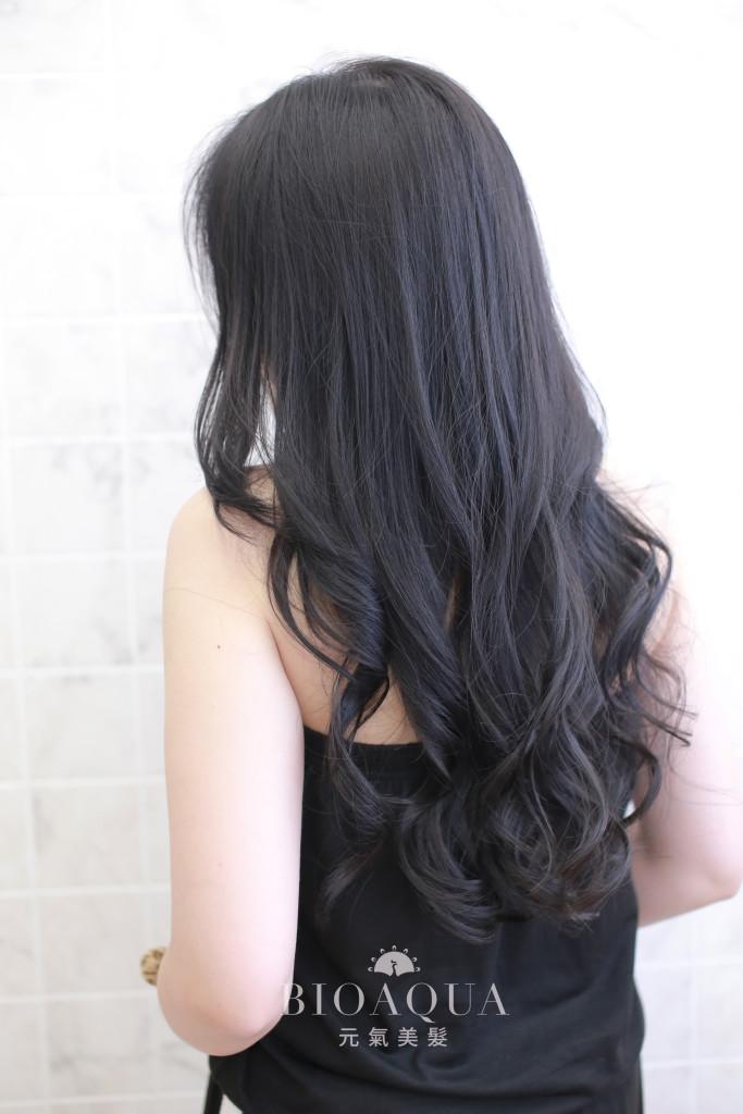 黑茶拿鐵色+灰藍色線條挑染 - 台中髮廊 剪髮染髮推薦 元氣美髮
