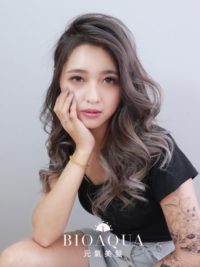 霧灰色 歐美手刷漸層染 - 台中髮廊 挑染手刷染推薦 元氣美髮