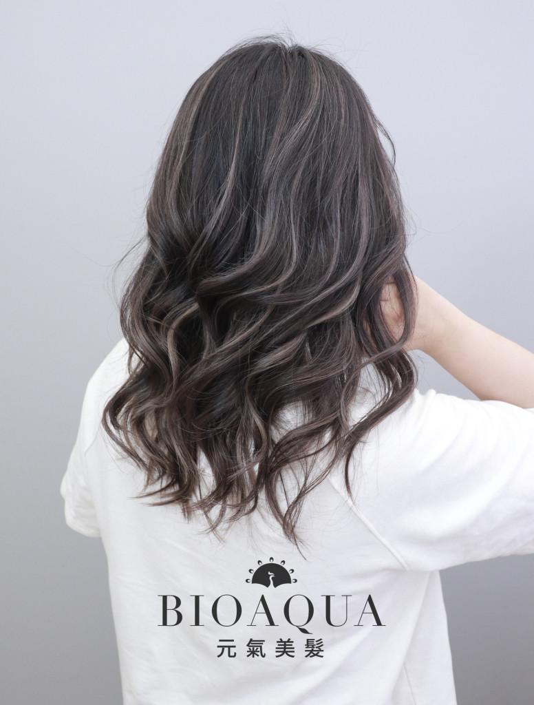 歐美手刷設計染之 線光刷染 - 台中髮廊 剪髮染髮推薦 元氣美髮