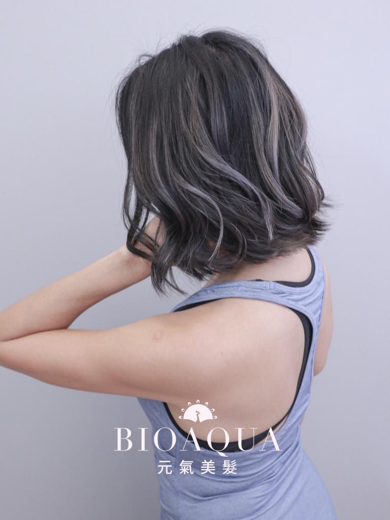 歐美手刷線條染+BOB頭 - 台中髮廊 剪髮染髮推薦 元氣美髮