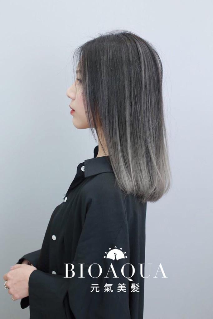 灰色調手刷漸層染 Balayage - 台中髮廊 歐美設計染髮推薦 元氣美髮