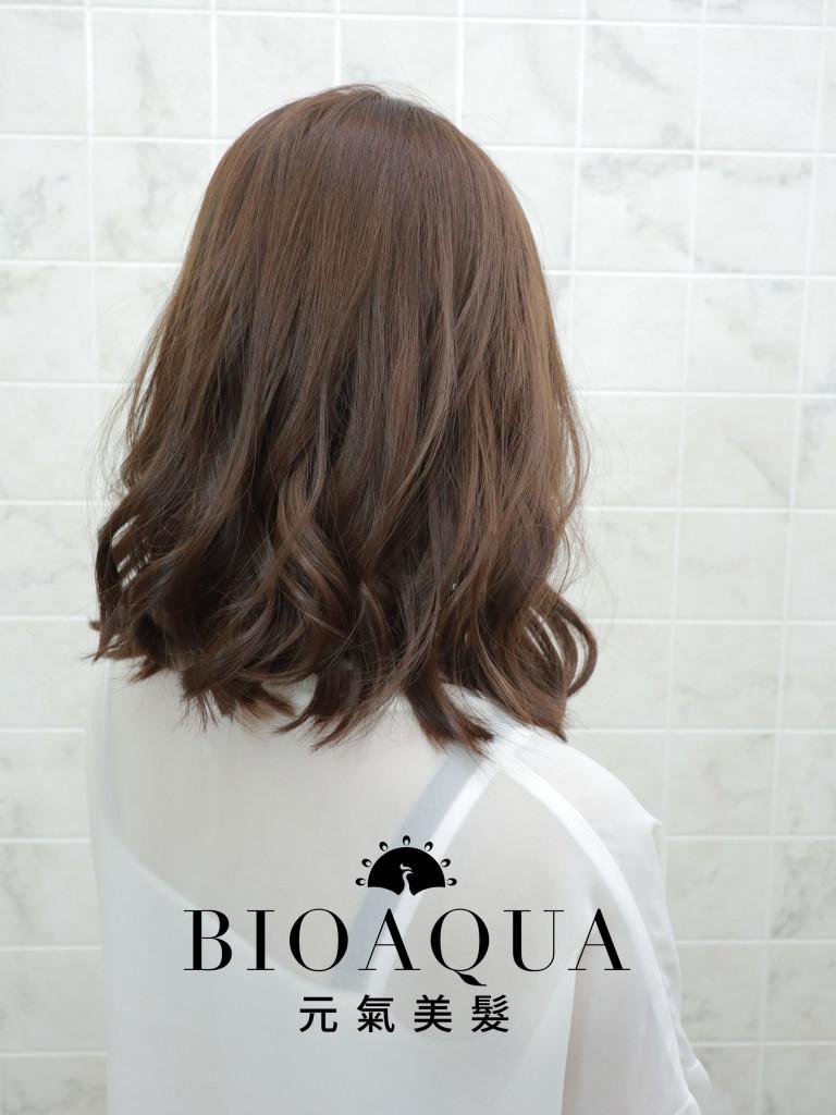 蜂蜜棕色LOB捲 - 台中髮廊 剪髮染髮推薦 元氣美髮