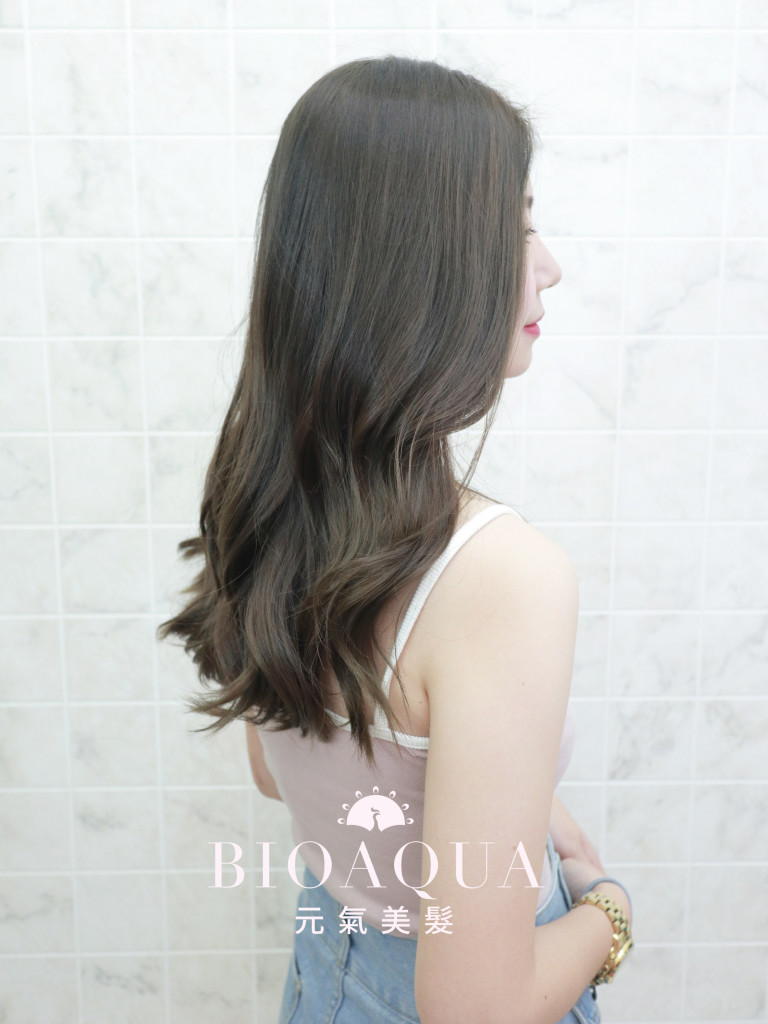 霧感灰綠棕色 - 台中髮廊 剪髮染髮推薦 bioaqua元氣美髮