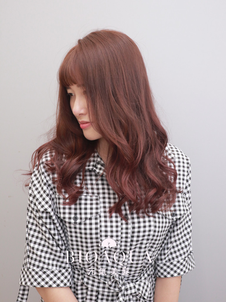 唯美浪漫髮色~紅棕色 - 台中髮廊 剪髮染髮推薦 元氣美髮