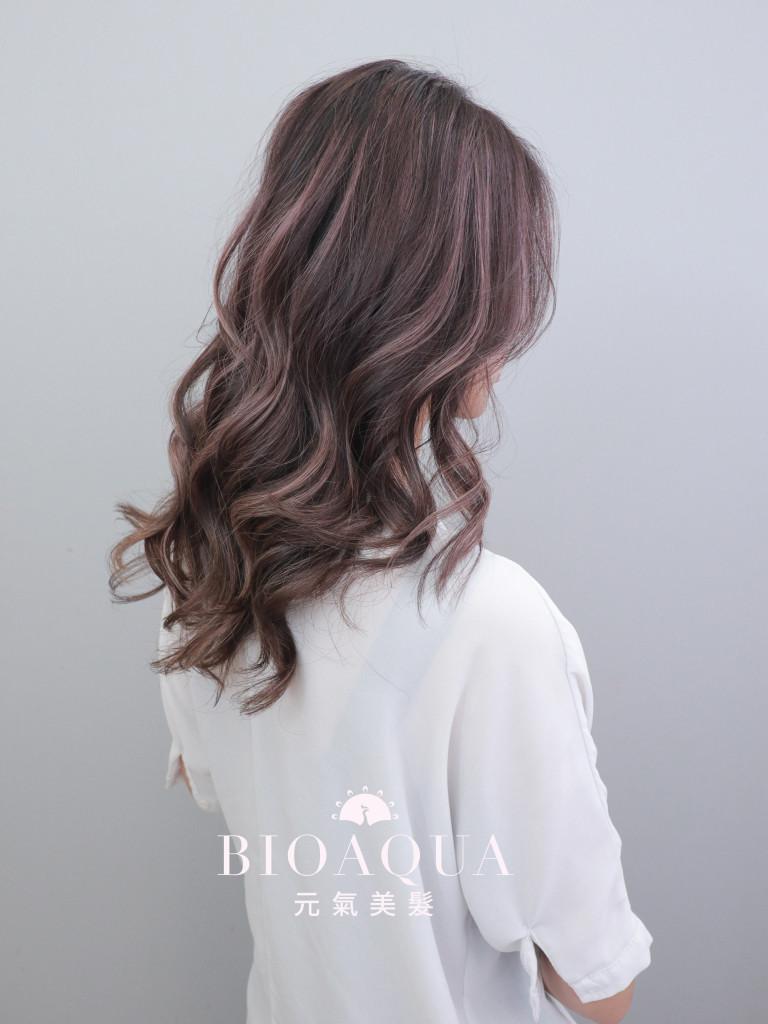 紫霧色調balayage手刷線條染 - 台中髮廊 剪髮染髮推薦 元氣美髮
