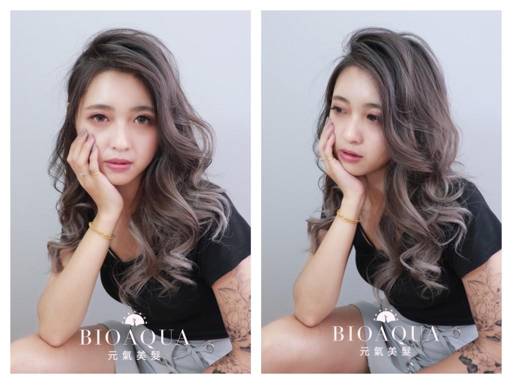 時尚染髮推薦~歐美手刷線條染髮 - 台中髮廊 元氣美髮