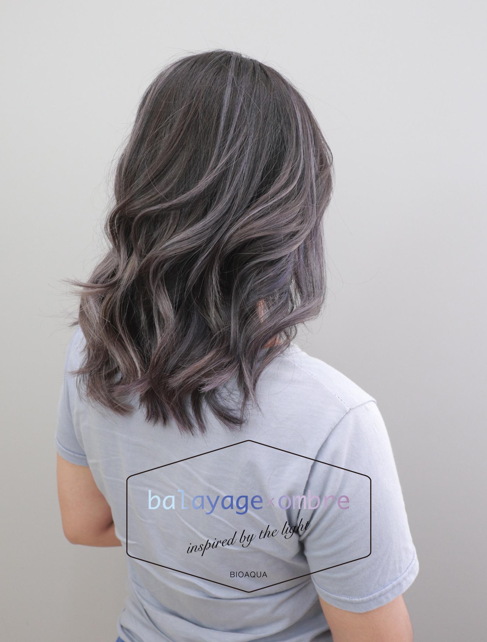 灰色調歐美手刷線條染髮