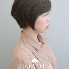 質感霧灰棕色+時髦個性短髮