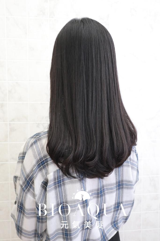 經典直髮燙+髮尾C字內彎 - 台中髮廊 剪髮燙髮推薦 元氣美髮