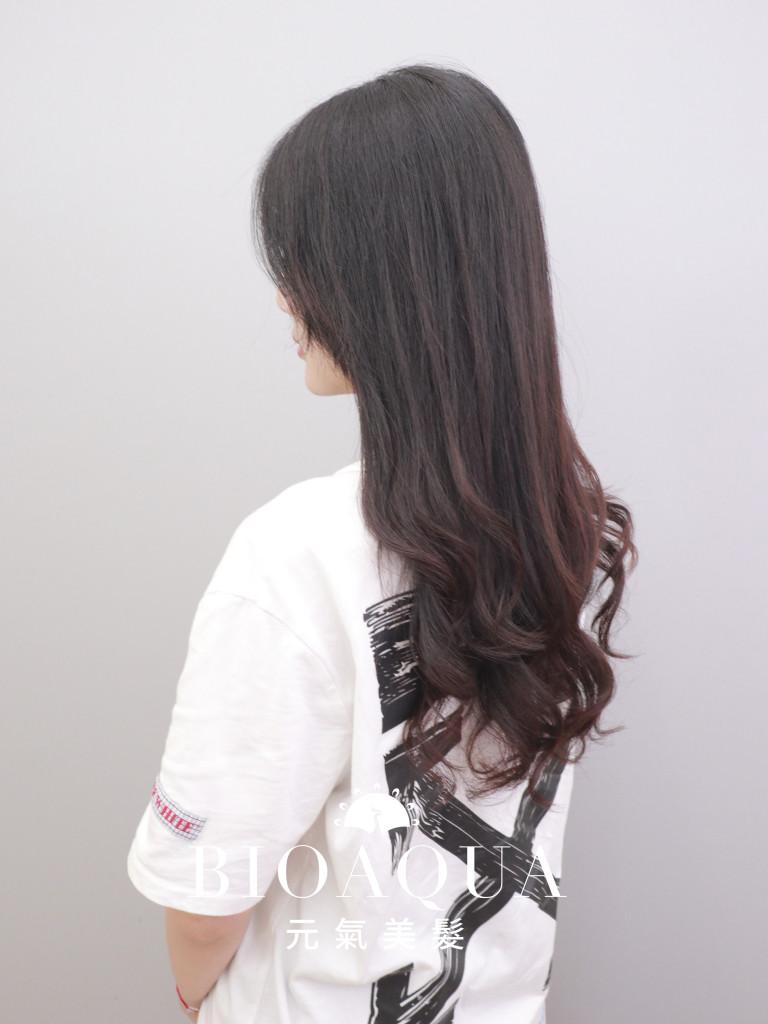 髮尾手繞電棒捲 by資生堂水質感燙 - 台中髮廊 剪髮燙髮推薦 元氣美髮