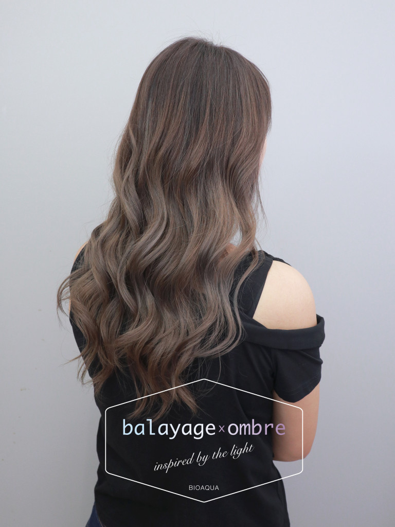 深棕&奶茶灰漸層線條染 - 台中髮廊 歐美染髮推薦 元氣美髮