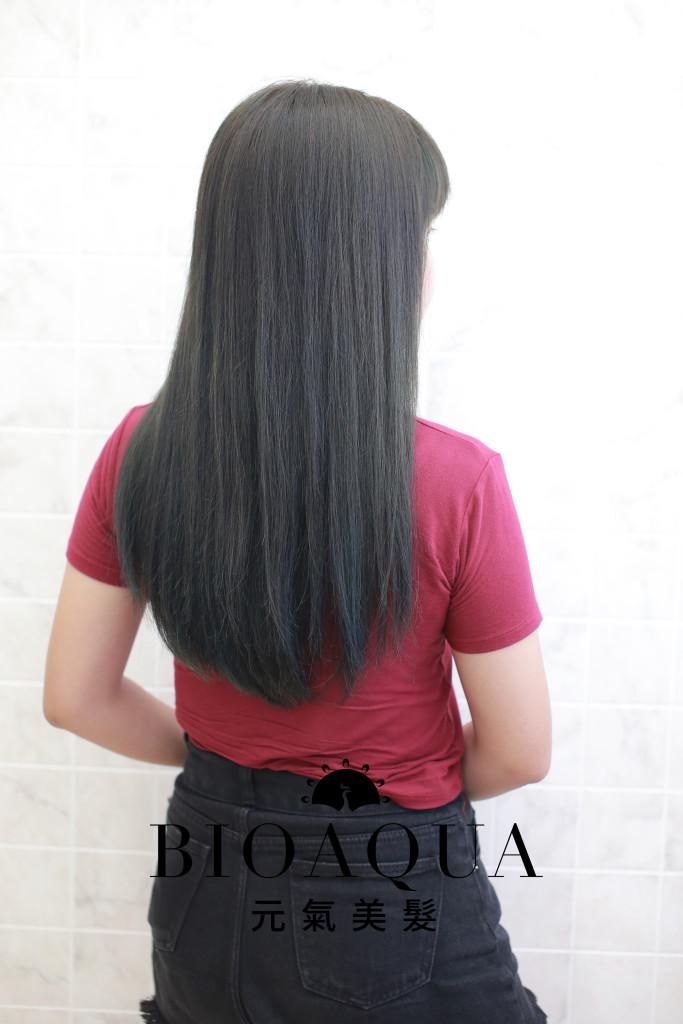 霧感髮色 灰綠棕色 - 台中髮廊 剪髮染髮推薦 元氣美髮