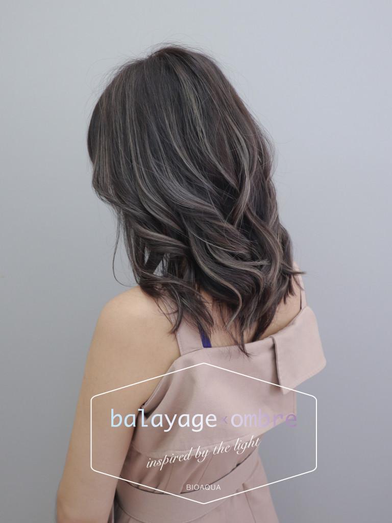 深巧克力灰棕色+乳灰色手刷線條染 - 台中髮廊 歐美設計染推薦 元氣美髮