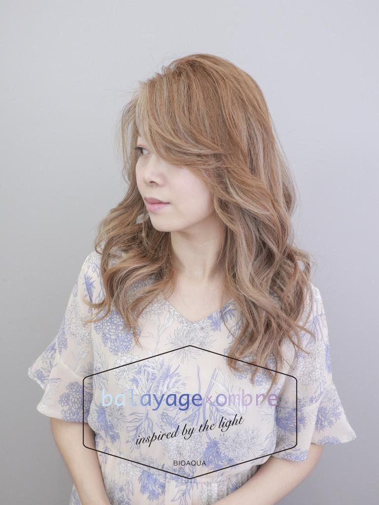 奶茶色混搭乳灰色手刷線條染 - 台中髮廊 歐美手刷染髮推薦 元氣美髮