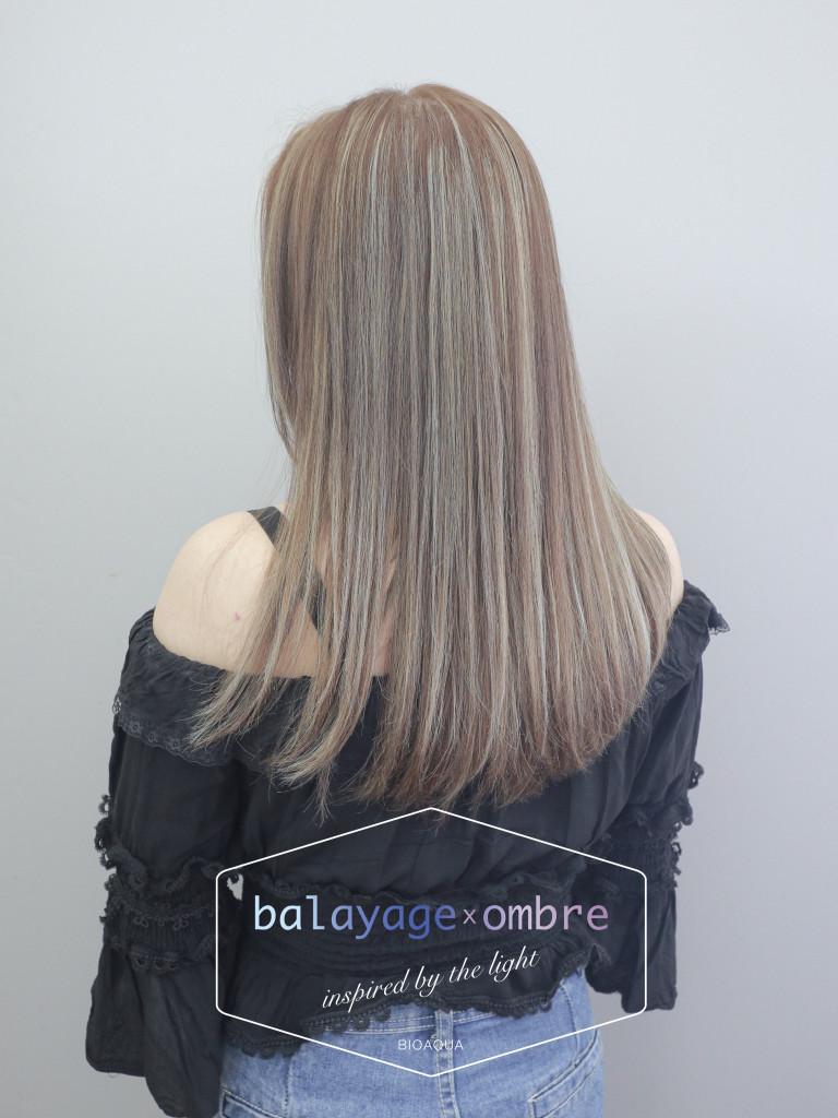 歐美手刷線條染 - 台中髮廊 剪髮染髮推薦 元氣美髮