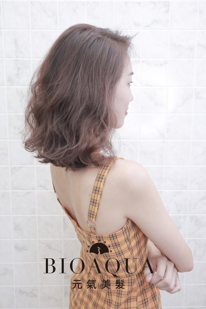 隨性時髦鮑伯捲髮 - 台中髮廊 剪髮燙髮推薦 元氣美髮