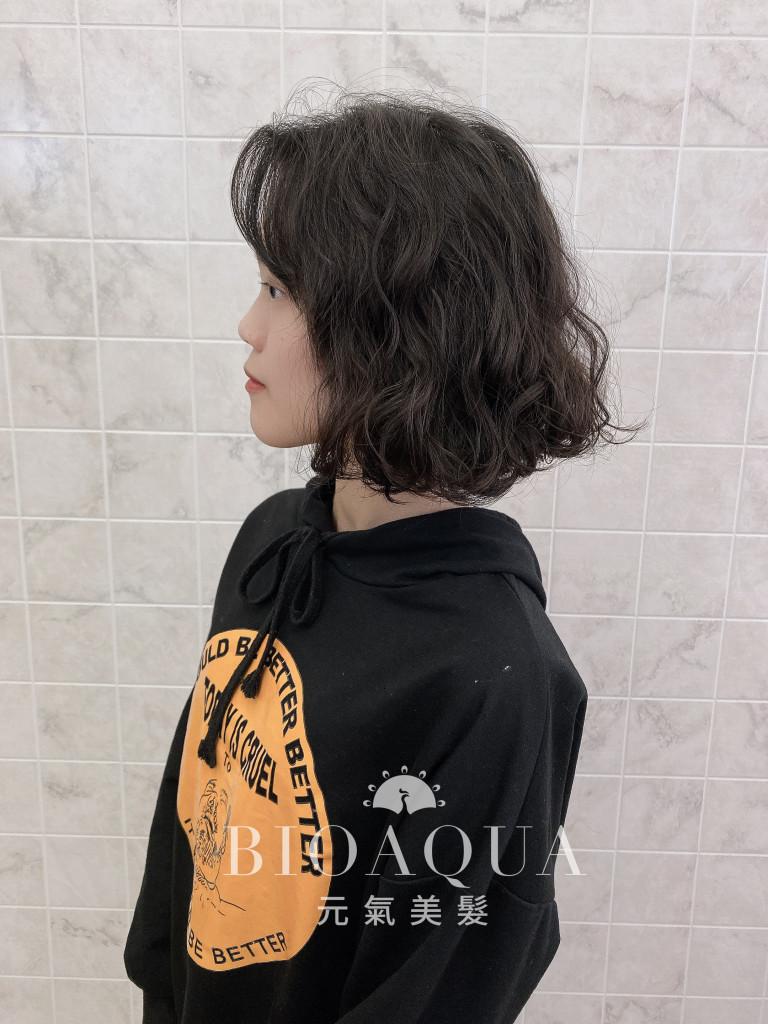 韓妞款蓬鬆BOB捲髮- 台中髮廊 剪髮燙髮推薦 元氣美髮