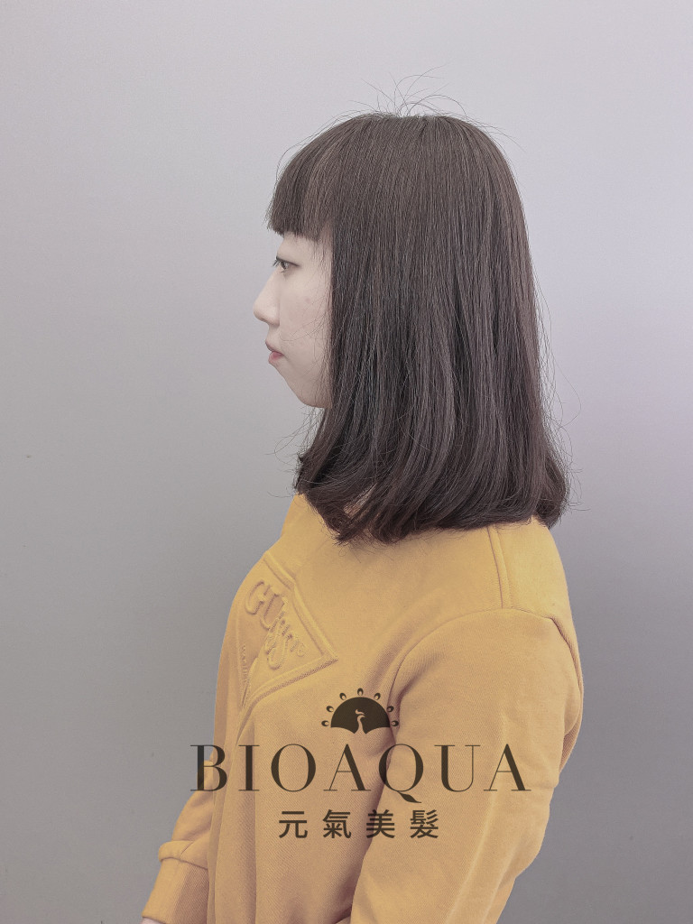 紫霧黑茶灰色 - 台中髮廊 剪髮染髮推薦 Bioaqua元氣美髮