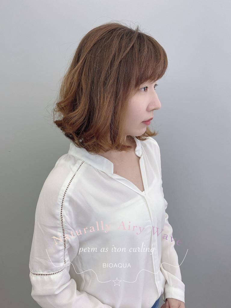 中長髮鮑伯捲 - 台中髮廊 燙髮護髮推薦 元氣美髮