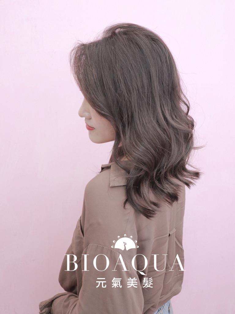 粉霧奶茶深灰色 - 台中髮廊 剪髮染髮推薦 元氣美髮