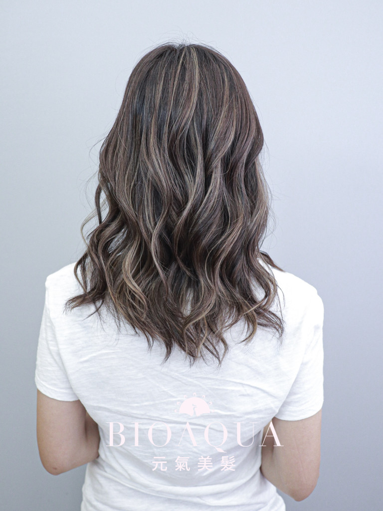 歐美線條刷染 - 台中髮廊 手刷設計染髮推薦 元氣美髮
