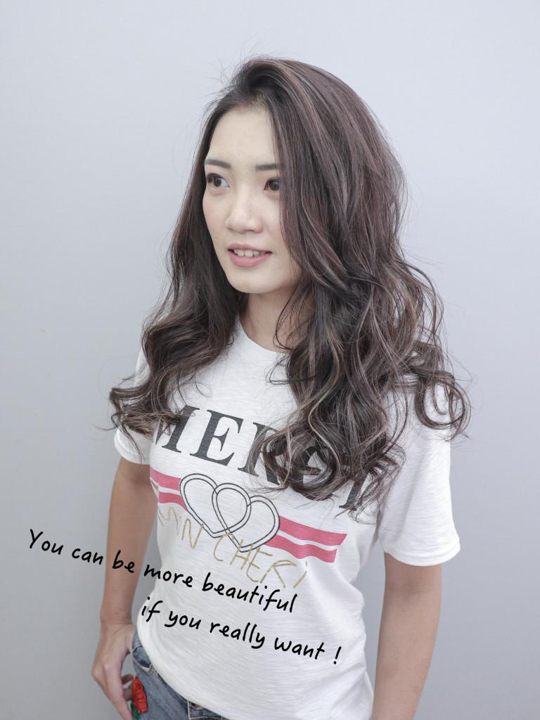 灰色調歐美手刷線條染 - 台中髮廊 挑染手刷染推薦 元氣美髮