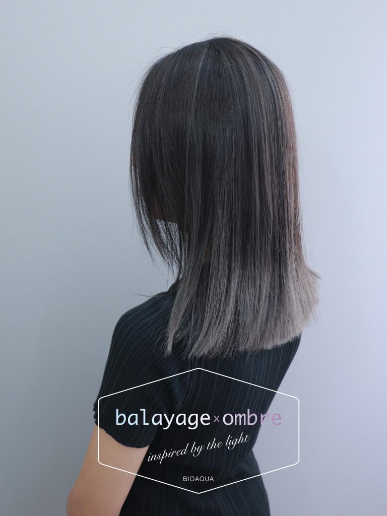 灰色調歐美手刷設計染 - 台中髮廊 染髮挑染推薦 元氣美髮
