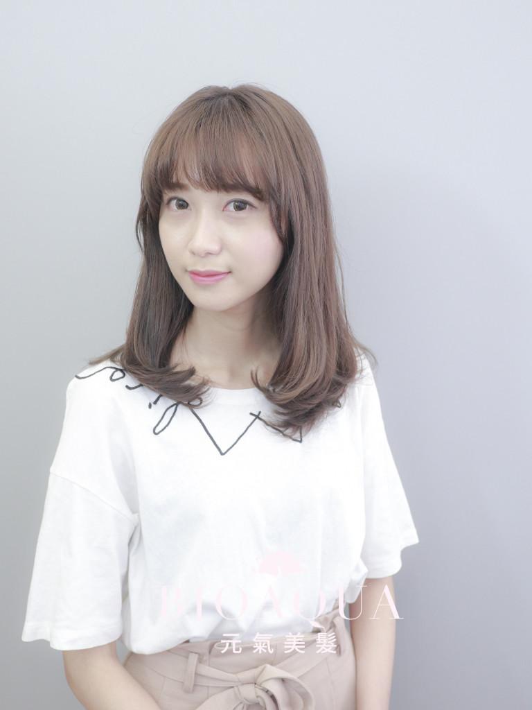 粉霧感奶茶棕色 - 台中髮廊 剪髮染髮推薦 元氣美髮
